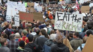 eat the rich occupy wall street protest