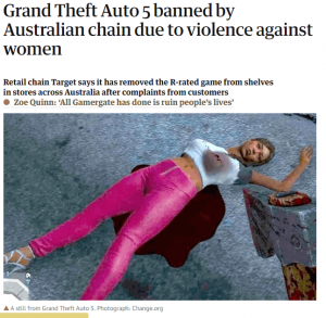 gta 5 banned in target australia