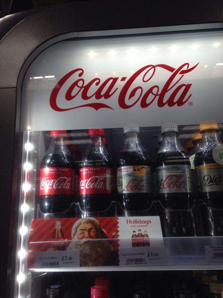 coca cola using tynamite design