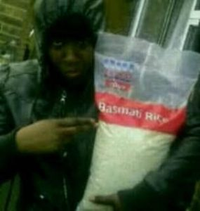 man who stole tesco basmati rice in riots