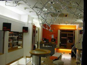 orange store smashed