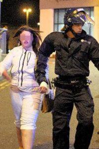 police arresting a shoplifter