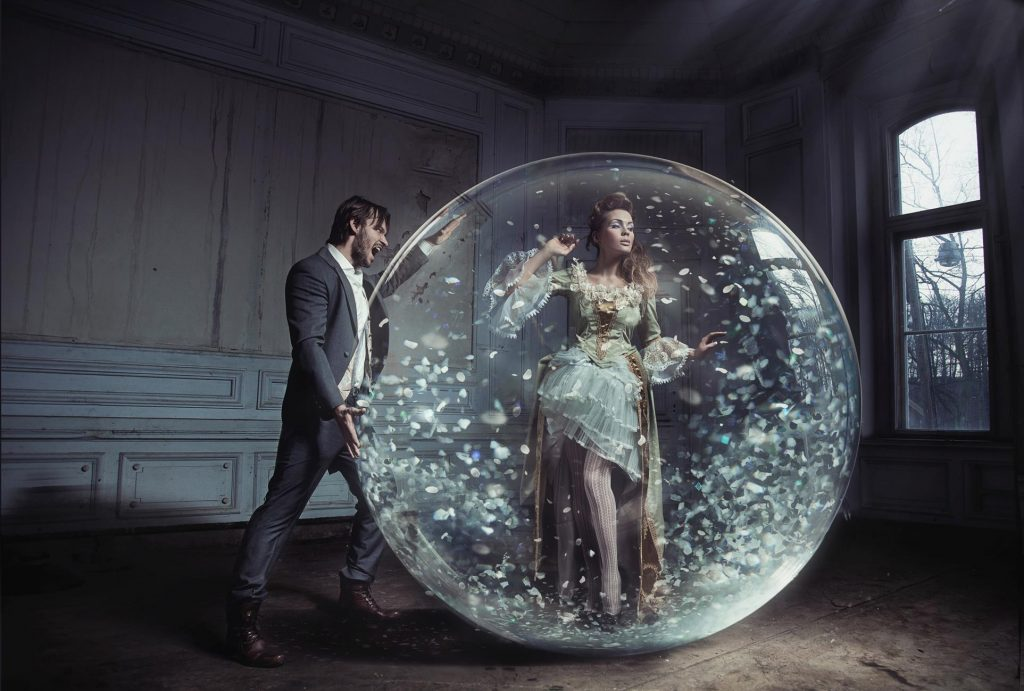 people in a bubble 2
