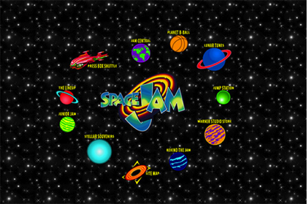 space jam home page in 90s