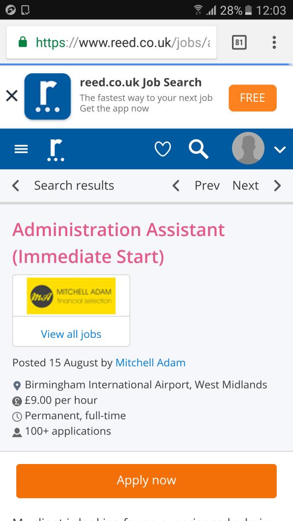 100 people applying for every job in Birmingham